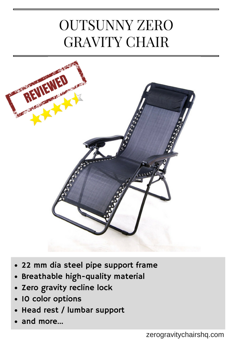Review Outsunny Zero Gravity Chair 22 Mm Dia Steel Pipe Support Frame Breathable High Quality Material Recline Lock 10 Color Options