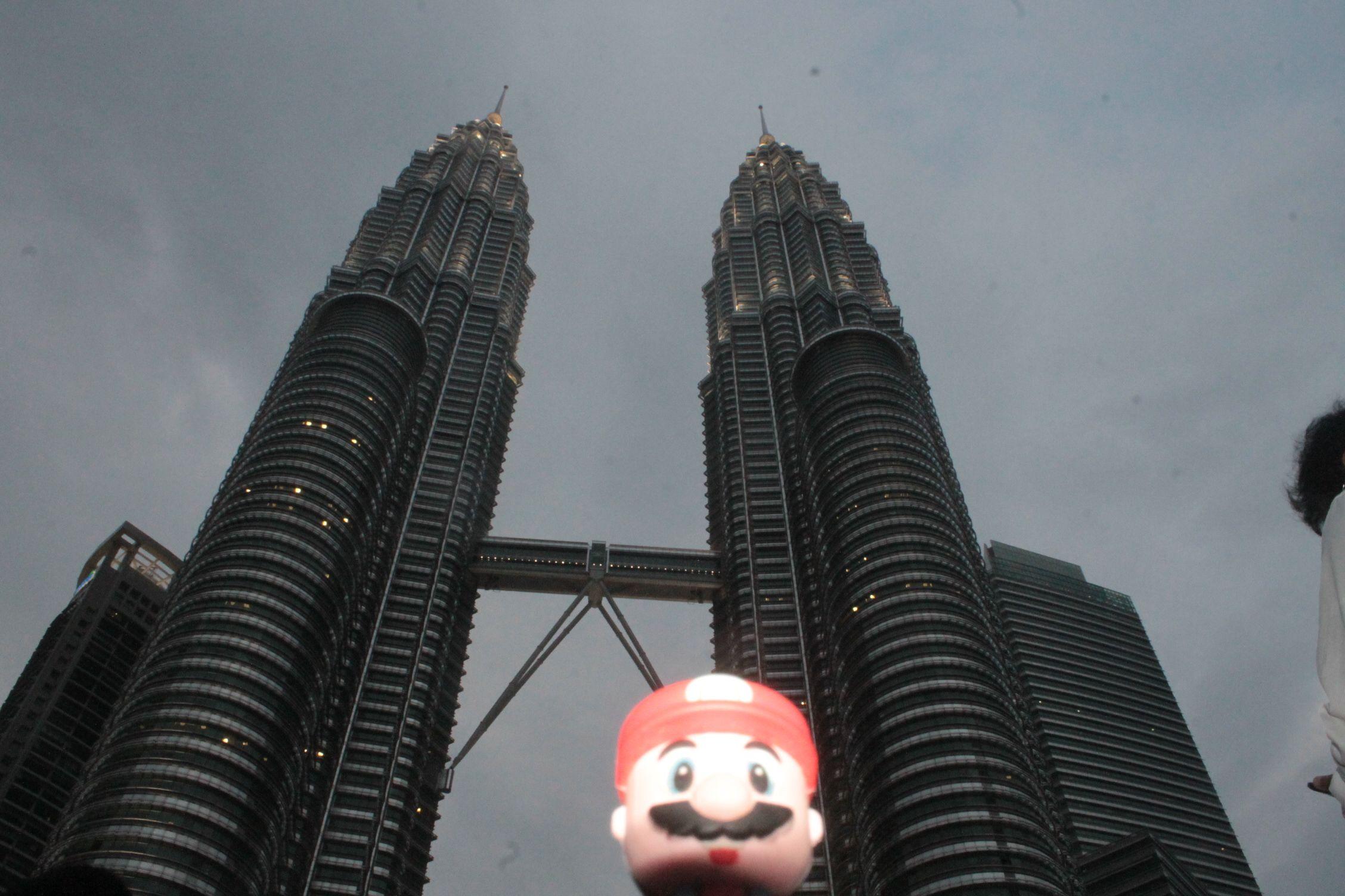 En las torres petronas, Kuala Lumpur