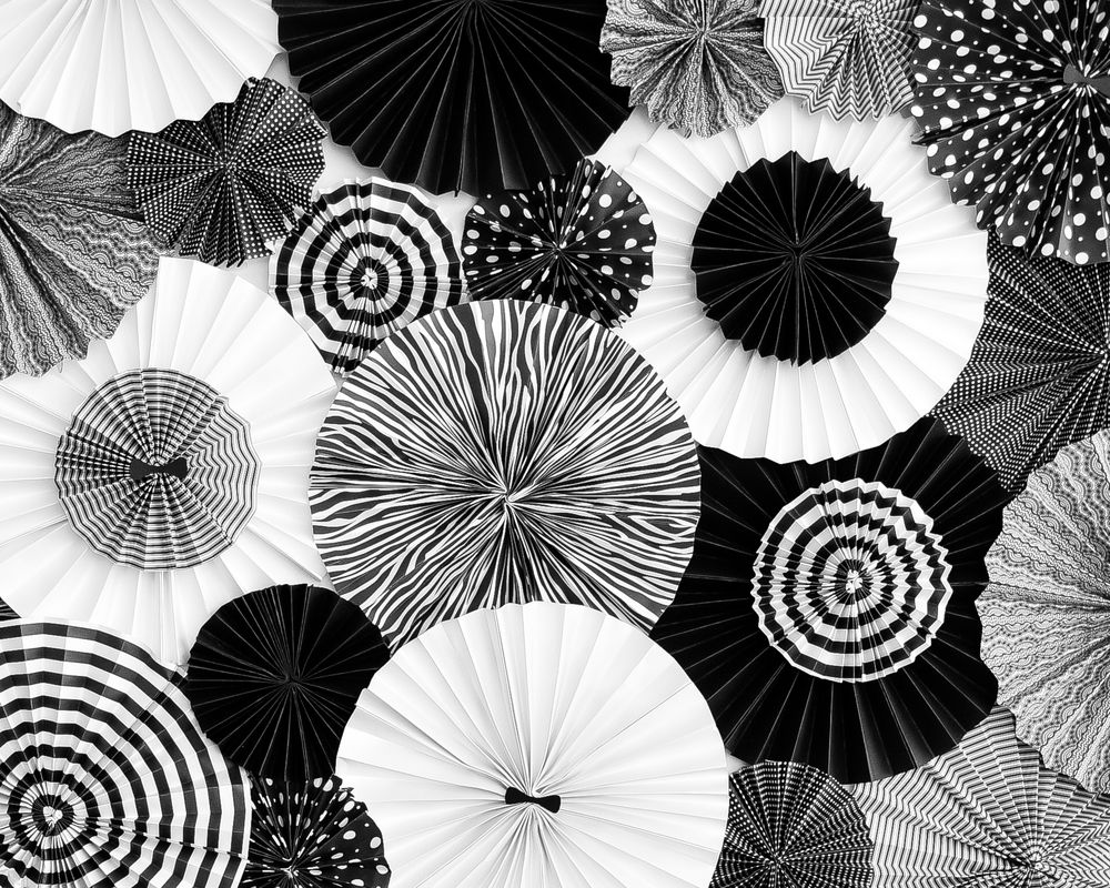 Black And White Paper Pinwheels Black And White Party