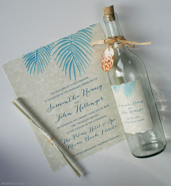 17 Best images about Invitations – Handmade Beach Wedding Invitations