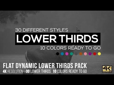flat dynamic lower thirds pack after effects template after