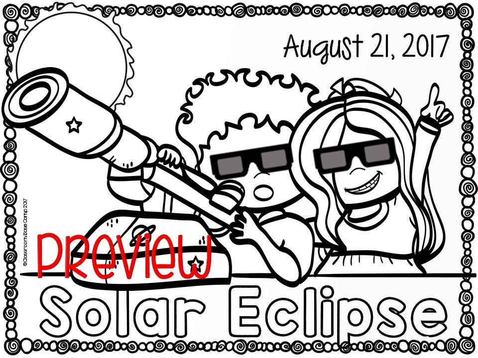 Solar eclipse 2017 solar eclipse 2017 solar eclipse and for Eclipse coloring pages