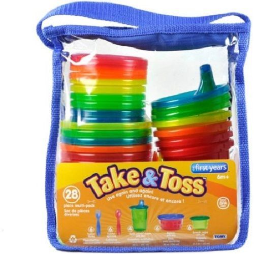 Disposable Sippy Cups Utensils Take Toss Variety Toddler Travel BPAFree No Spill…