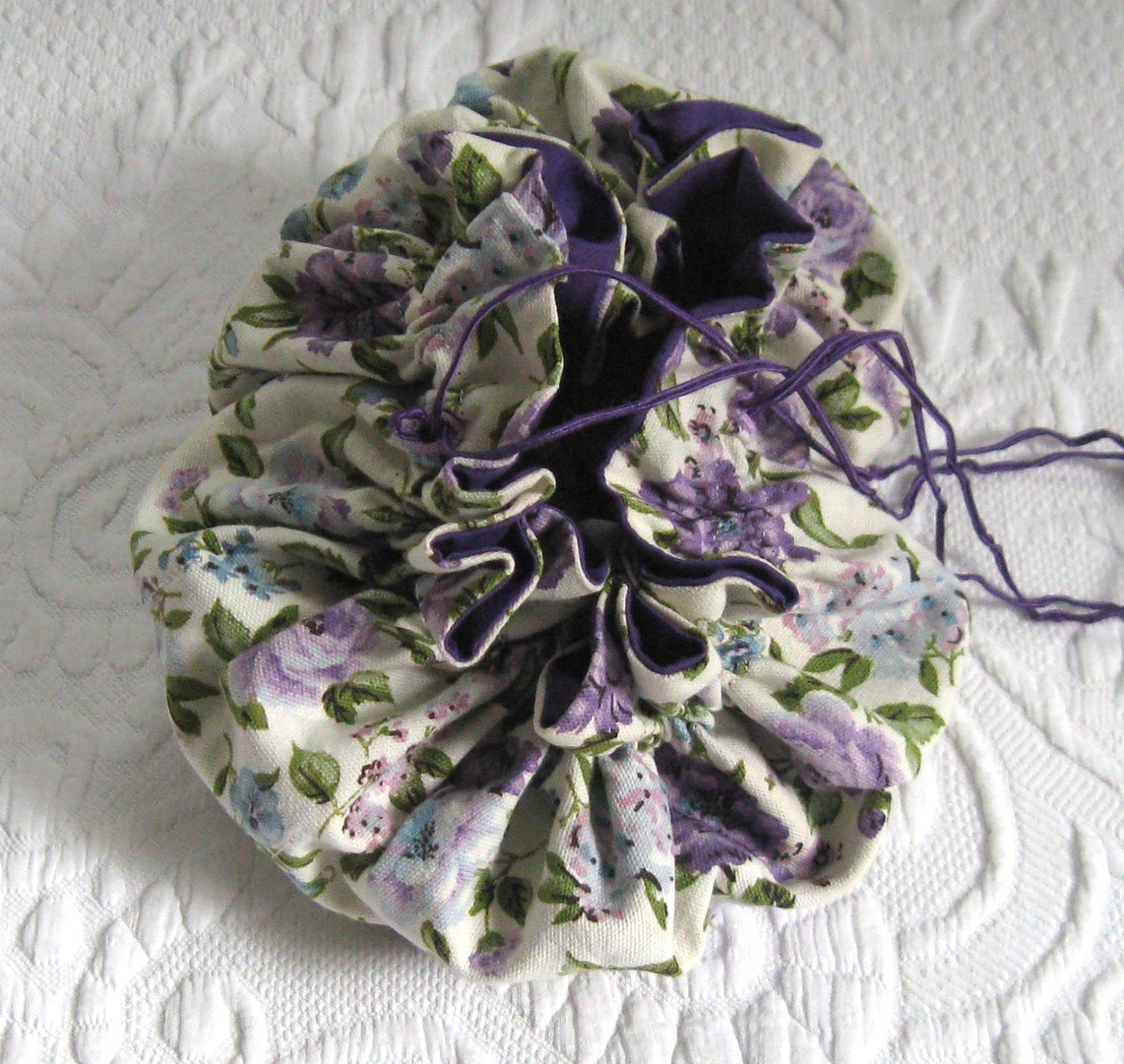 purple rose pouch . jewelry pouch .  travel pouch . jewelry organizer . sewing pouch . storage pouch . purple rose handbag by vintagous on Etsy