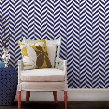 Herringbone Solid Wallpaper Peel and Stick Fabric