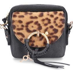 See By Chloé Handtasche Joan Camera Bag Rindsleder Pony Logo metallisch schwarz ChloéChloé #seebychloe
