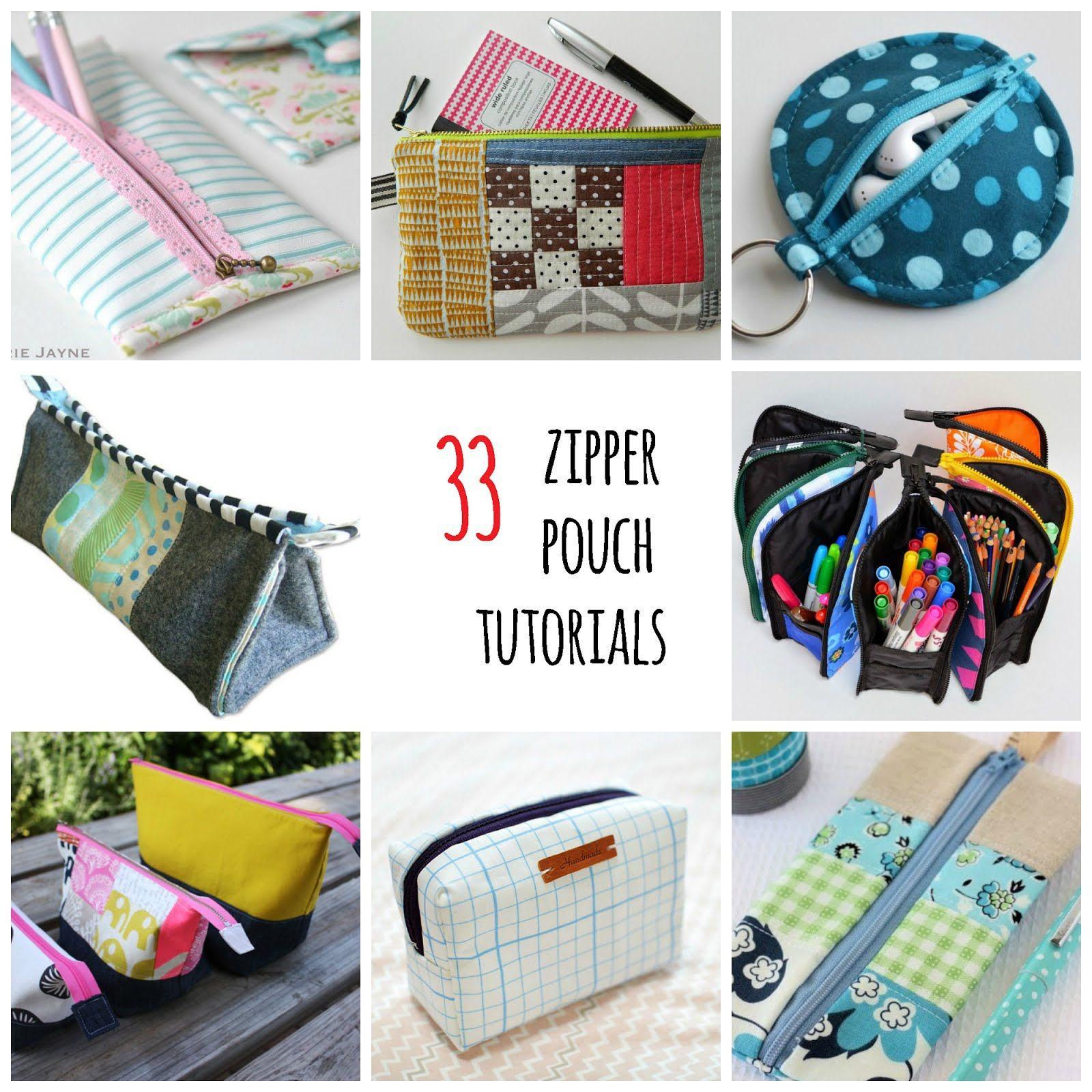 33 Free Zipper Pouch Tutorials Zipper Pouch Tutorial Pouch Tutorial Tote Bag Tutorial