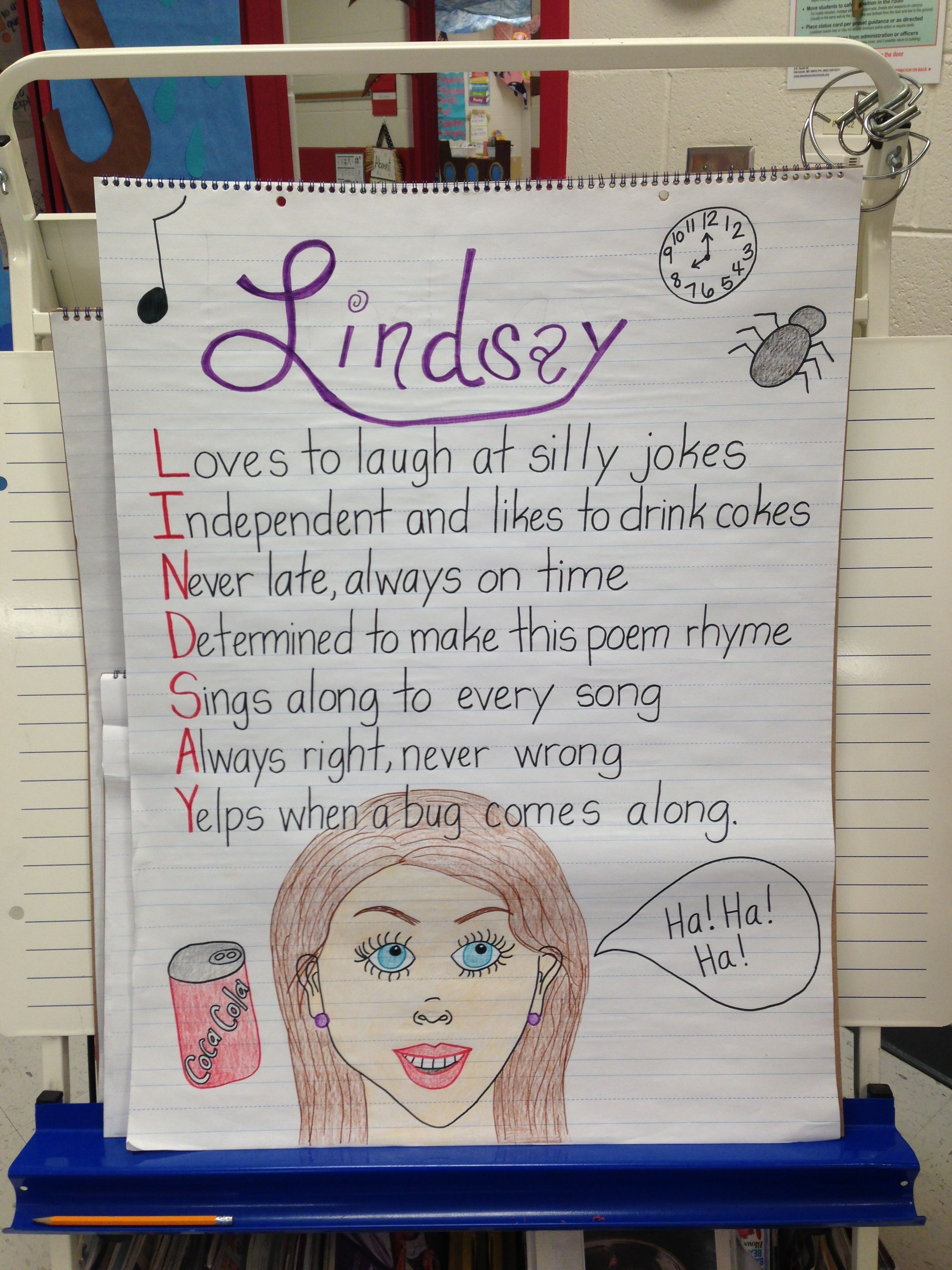 Acrostic Poetry 2nd Grade