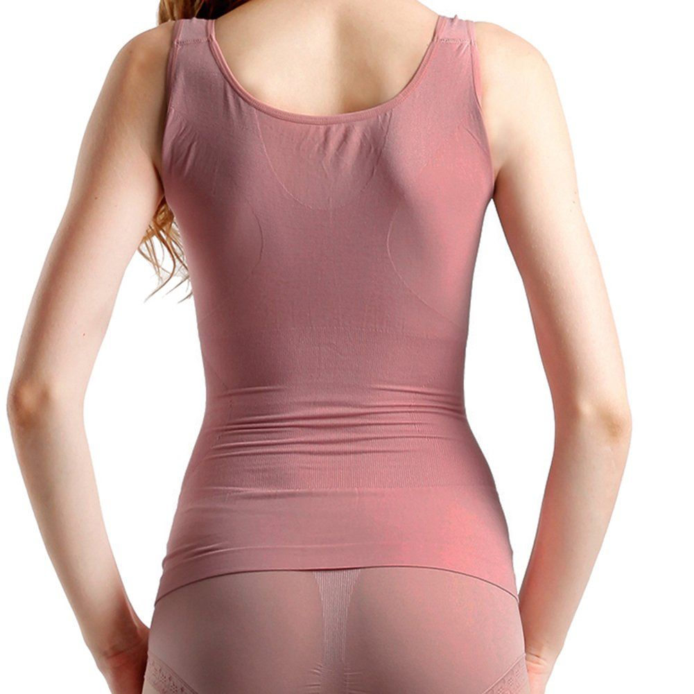 bd9f9e0949 Lucky Commerce Womens VNeck Tank Tops Tummy Control Seamless Shaping  Camisole Peachblow -- Read more reviews of the product by visiting the link  on the ...