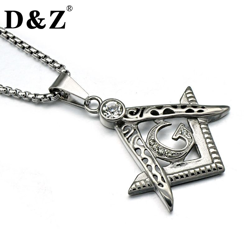 Dz classic iced out freemason men necklace 316l titanium stainless dz classic iced out freemason men necklace 316l titanium stainless steel masonic pendants necklaces for men aloadofball Gallery