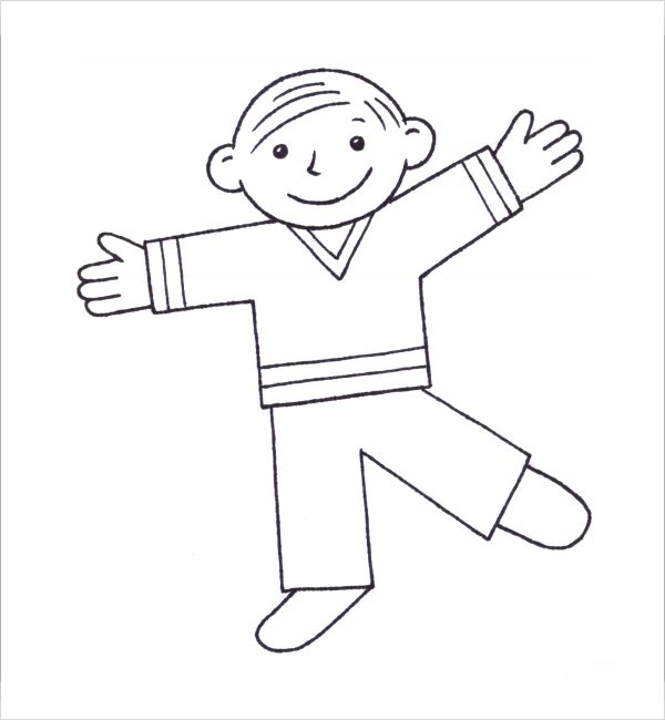 flat stanley the girl template