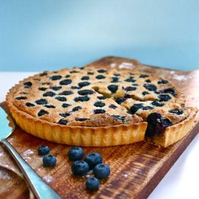Blueberry & Almond Tart  #Recipe #MegannsKitchen #myfoodbook