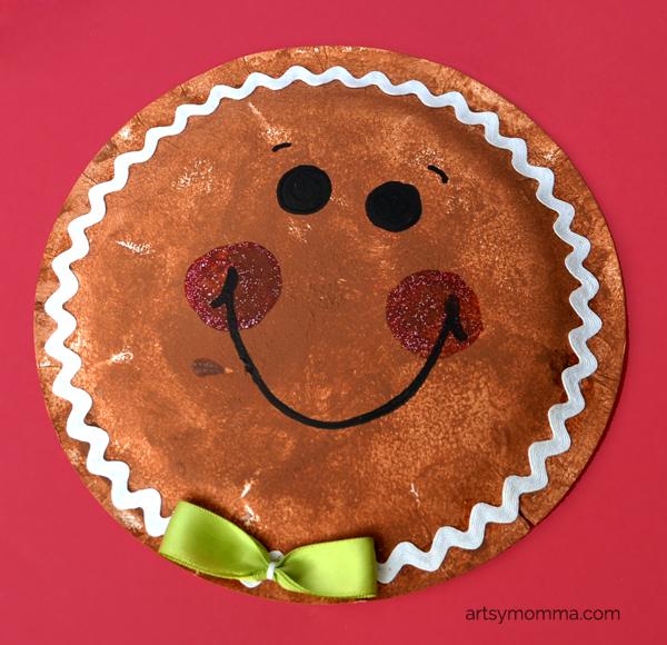 Paper Plate Gingerbread Man Craft & Sponge Painted Gingerbread Cookies u2013 4 Ways! | Men crafts ...