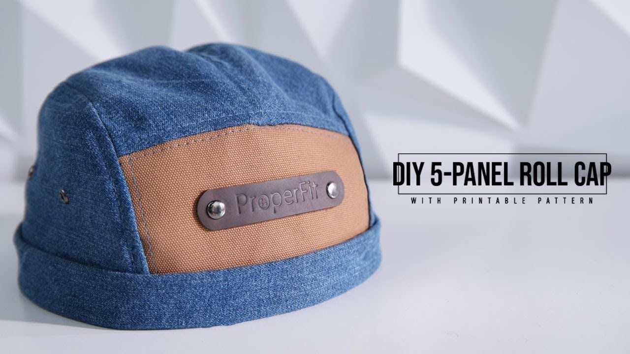 3215b11845ceb DIY 5-Panel Roll Cap with printable pattern! Super fun project for the  summer