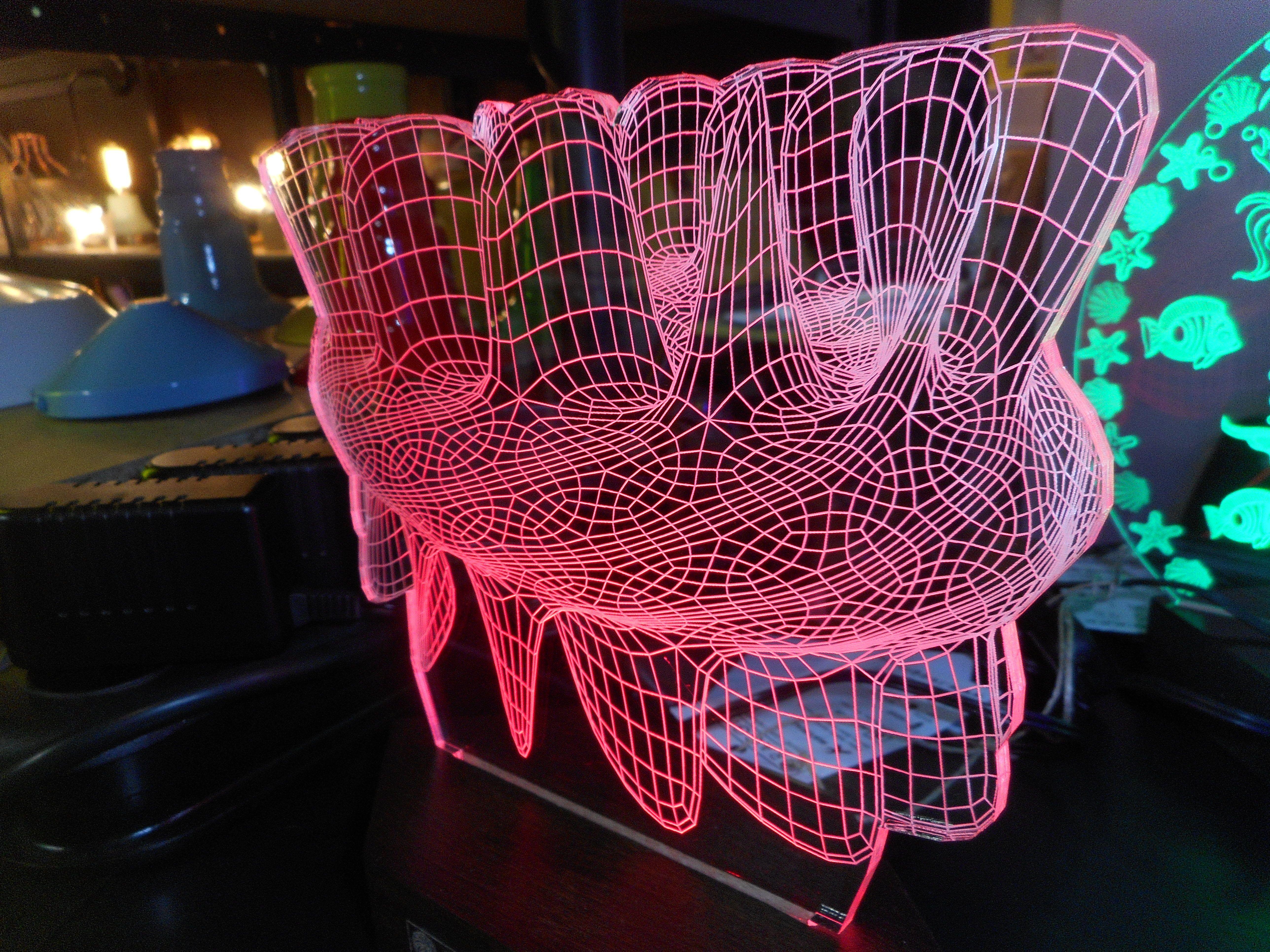 Led night light kickstarter - Night Light Laser Engraved Acrylic Led Lamp Decoration 3d From Raggio Eu
