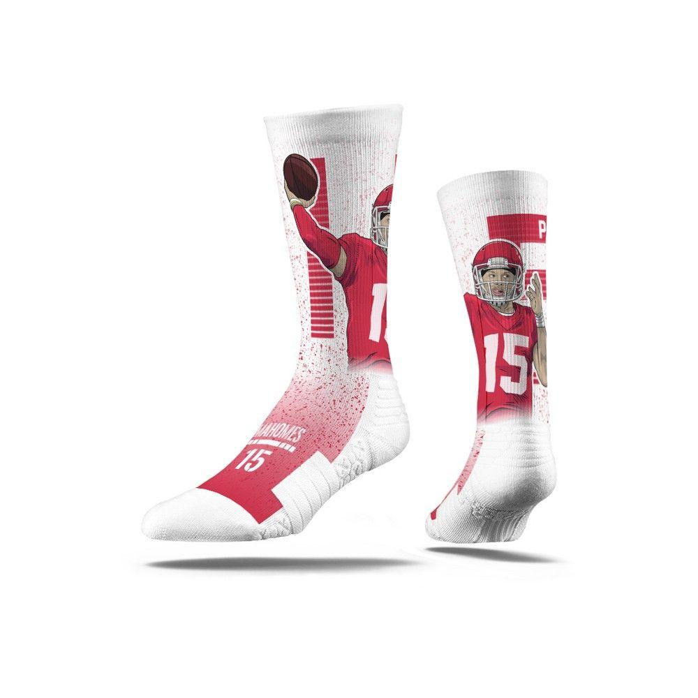 421a1e39 NFL Kansas City Chiefs Pat Mahommes Premium Player Socks - M/L ...