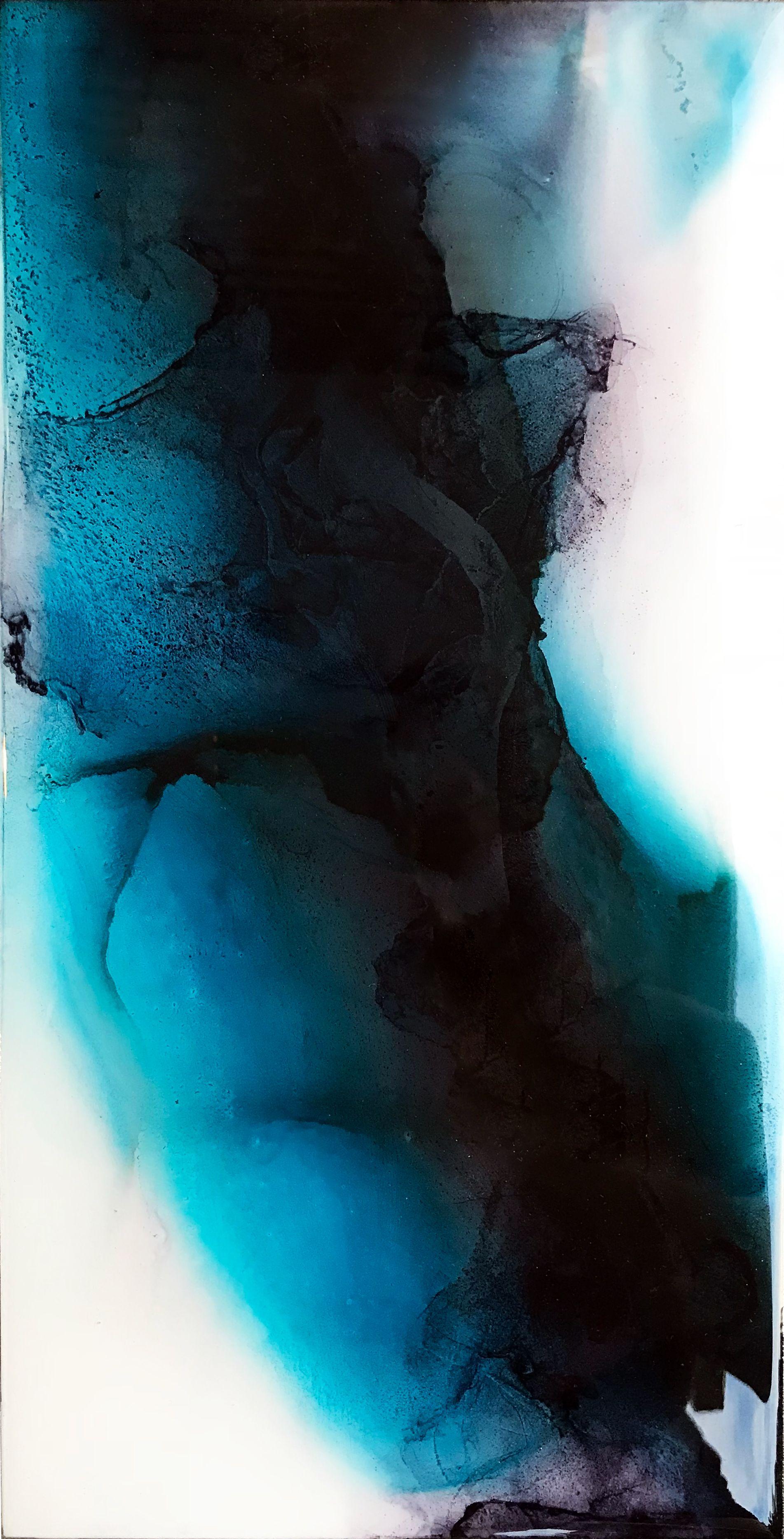 Large Abstract Art Living Room Art Minimalist Art Large Etsy Abstract Painting Abstract Minimal Painting Abstract blue ink liquid paint dark