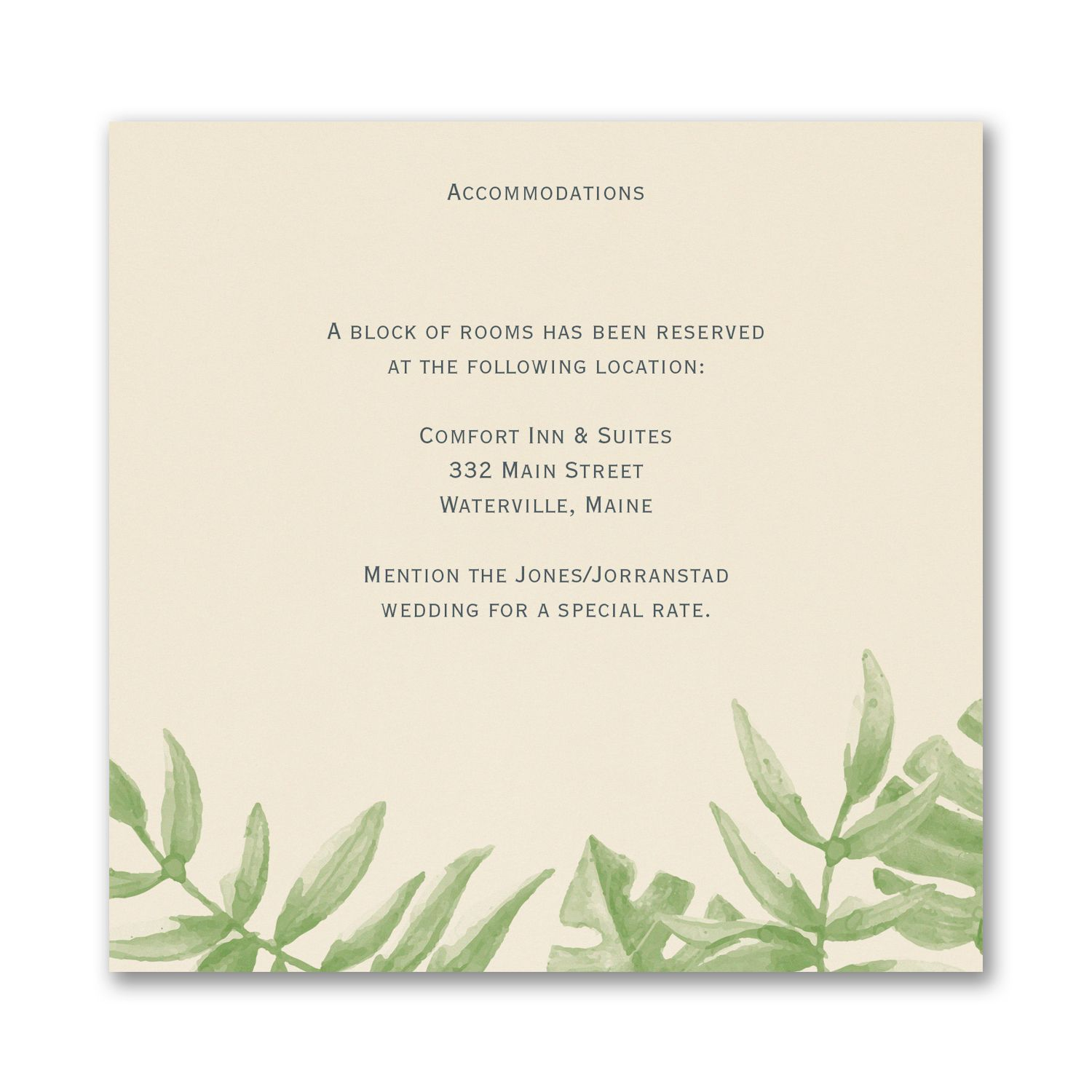Jungle Love Accommodation Card Accommodations Card Personalized Invitations Cards
