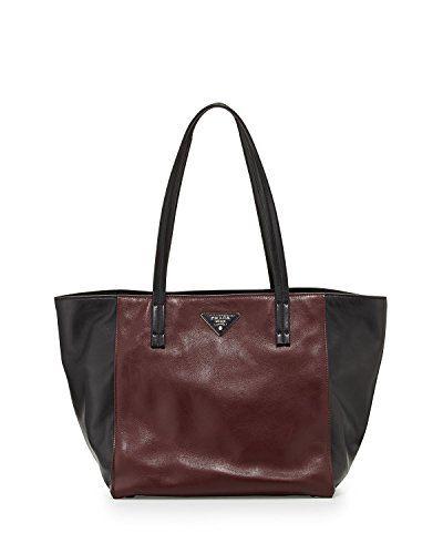 fb8deaffacb2 PRADA Shopping Soft Calf Leather Br5109 Nero  Granaot Bag