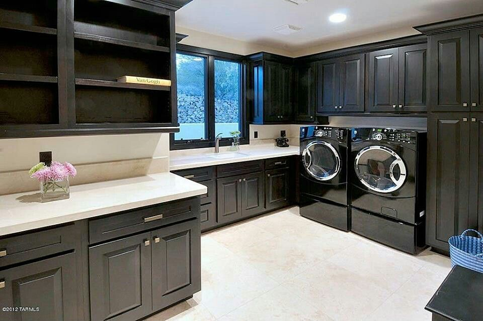 Nice color :) | Modern laundry rooms, Laundry room remodel ...