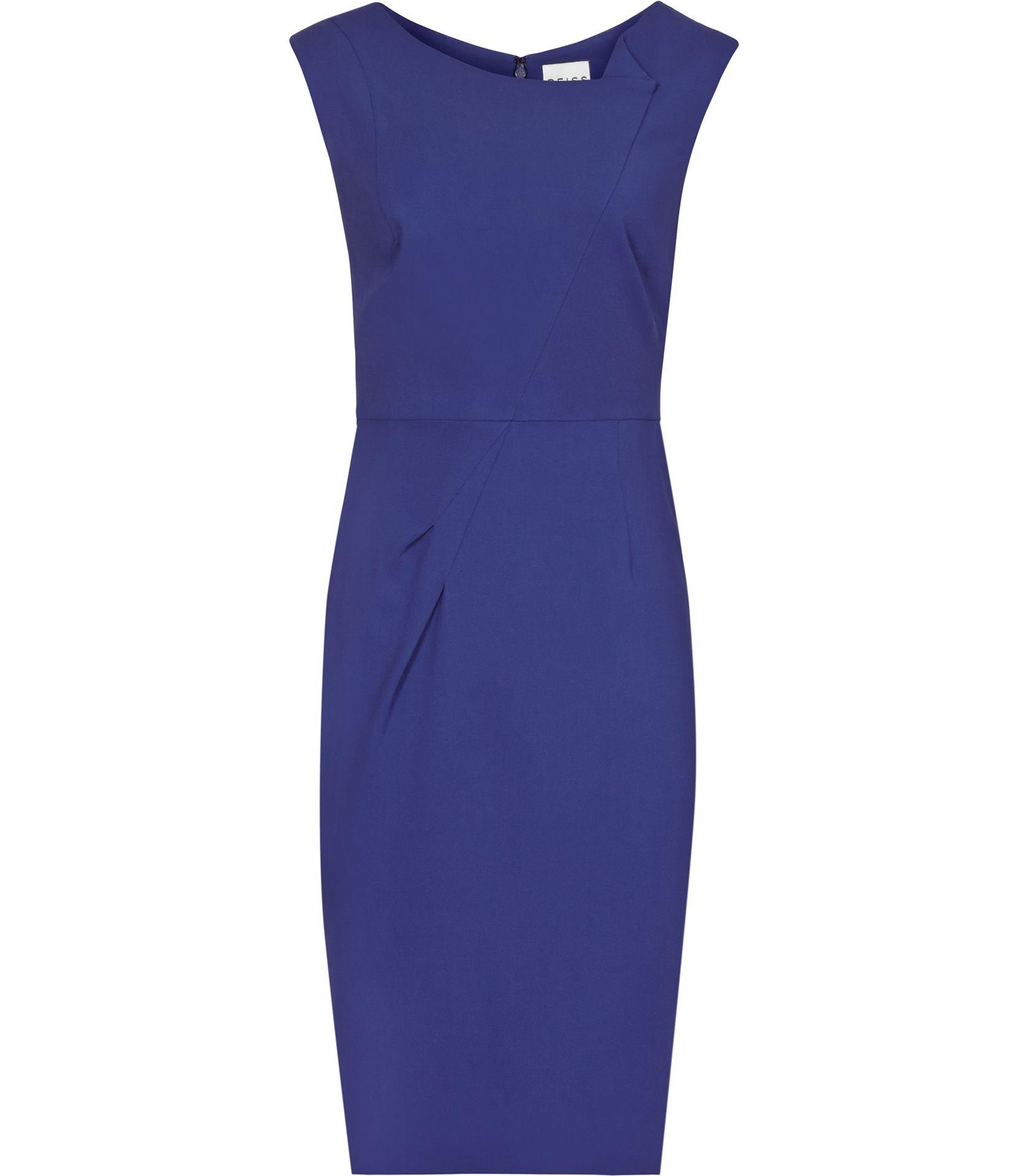 Womens Abyssal Blue Pleat-detail Dress - Reiss Giulia   NGUYEN THI 2 ...
