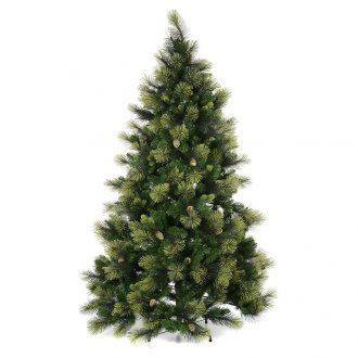 Albero Di Natale 210.Albero Di Natale 210 Cm Verde Con Pigne Modello Carolina Alberi Di Natale Pigne Verde
