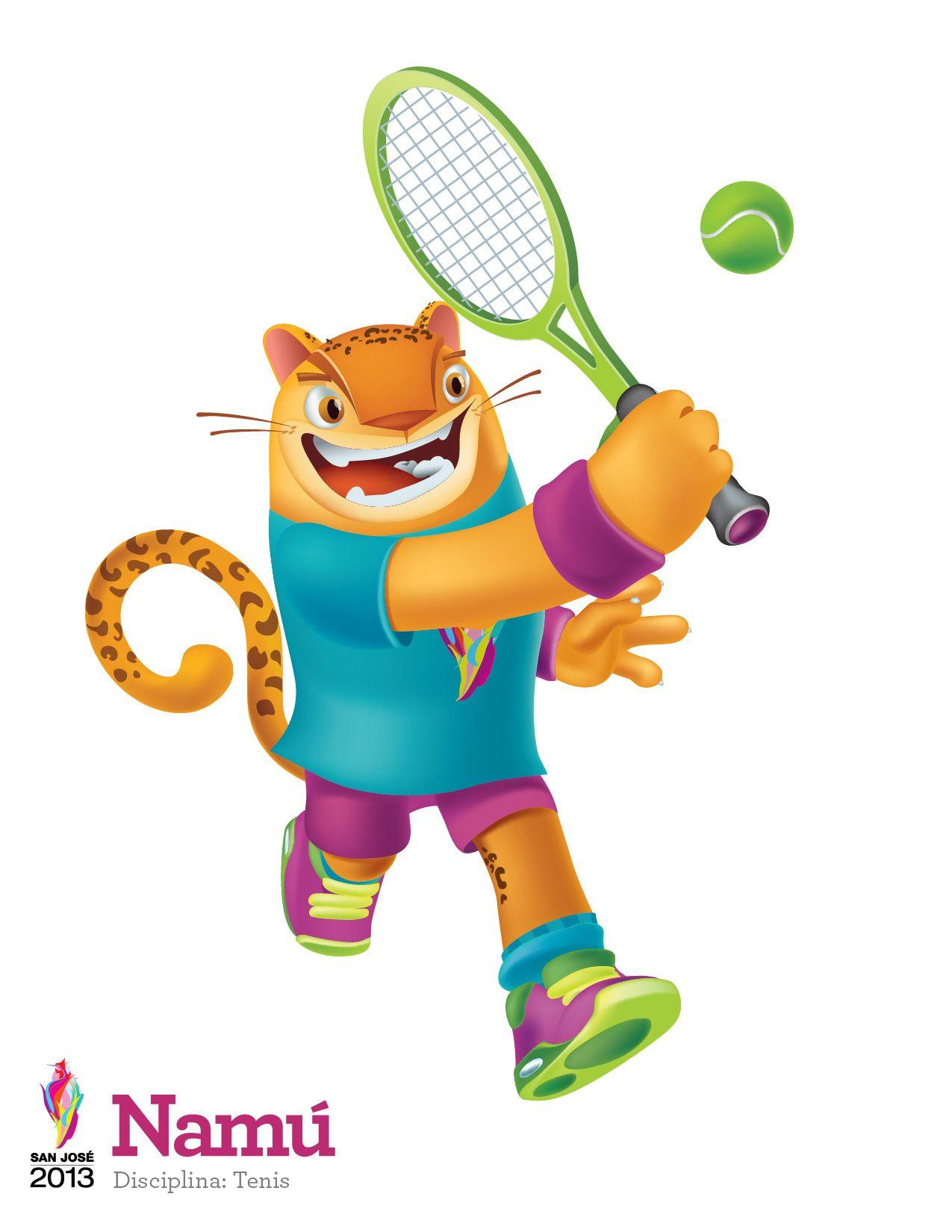 Namu Mascota De Los Juegos Centroamericanos San Jose 2013 O Disciplina Tenis
