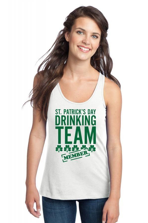 st patricks day drinking team Racerback Tank