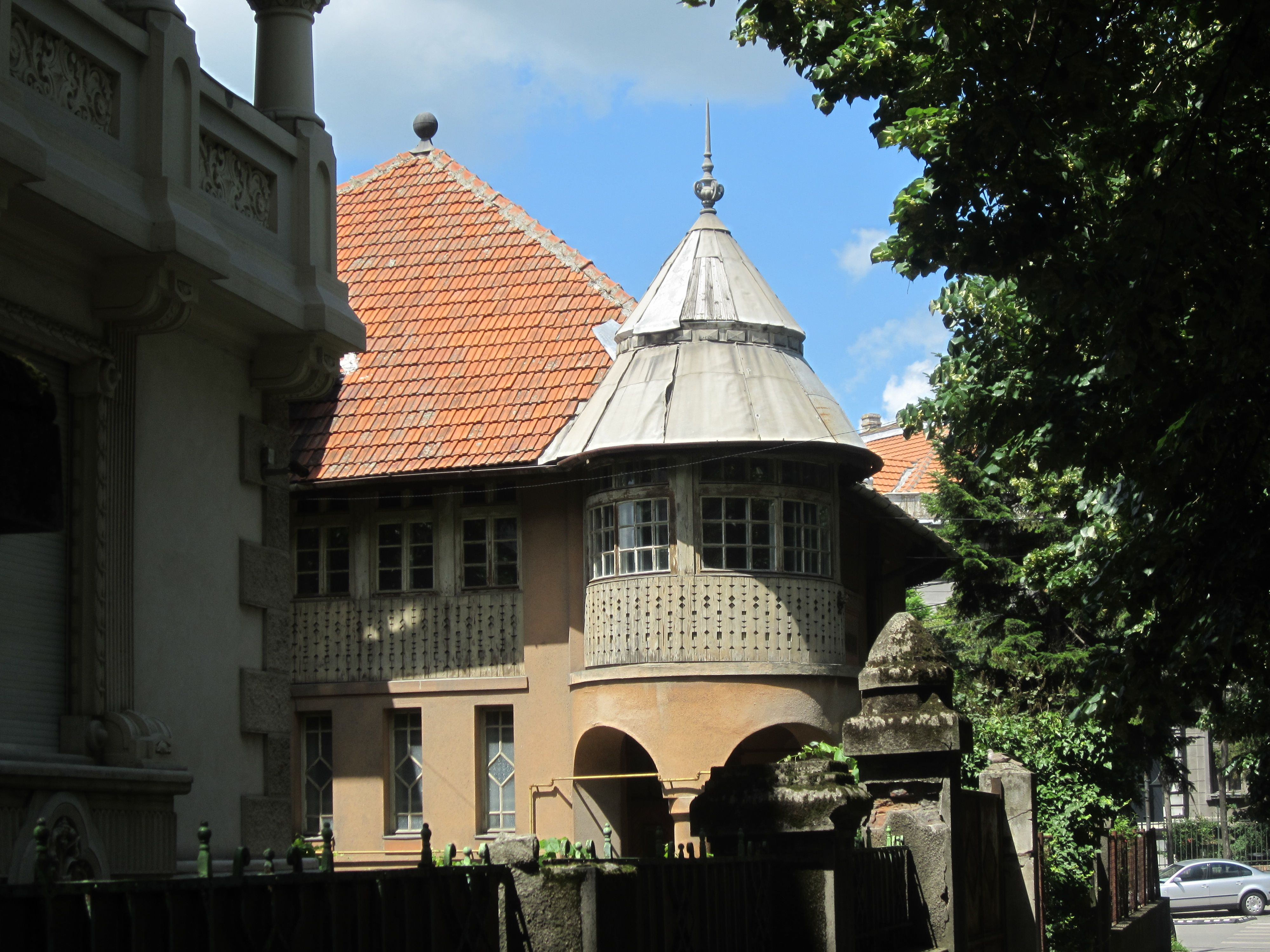 Old building with turret