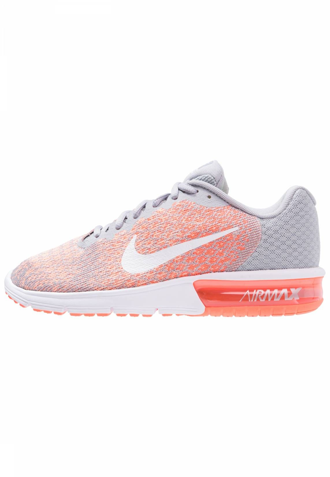 fb0a54dc6f AIR MAX SEQUENT 2 - Sneaker low - wolf grey/white/bright mango ...