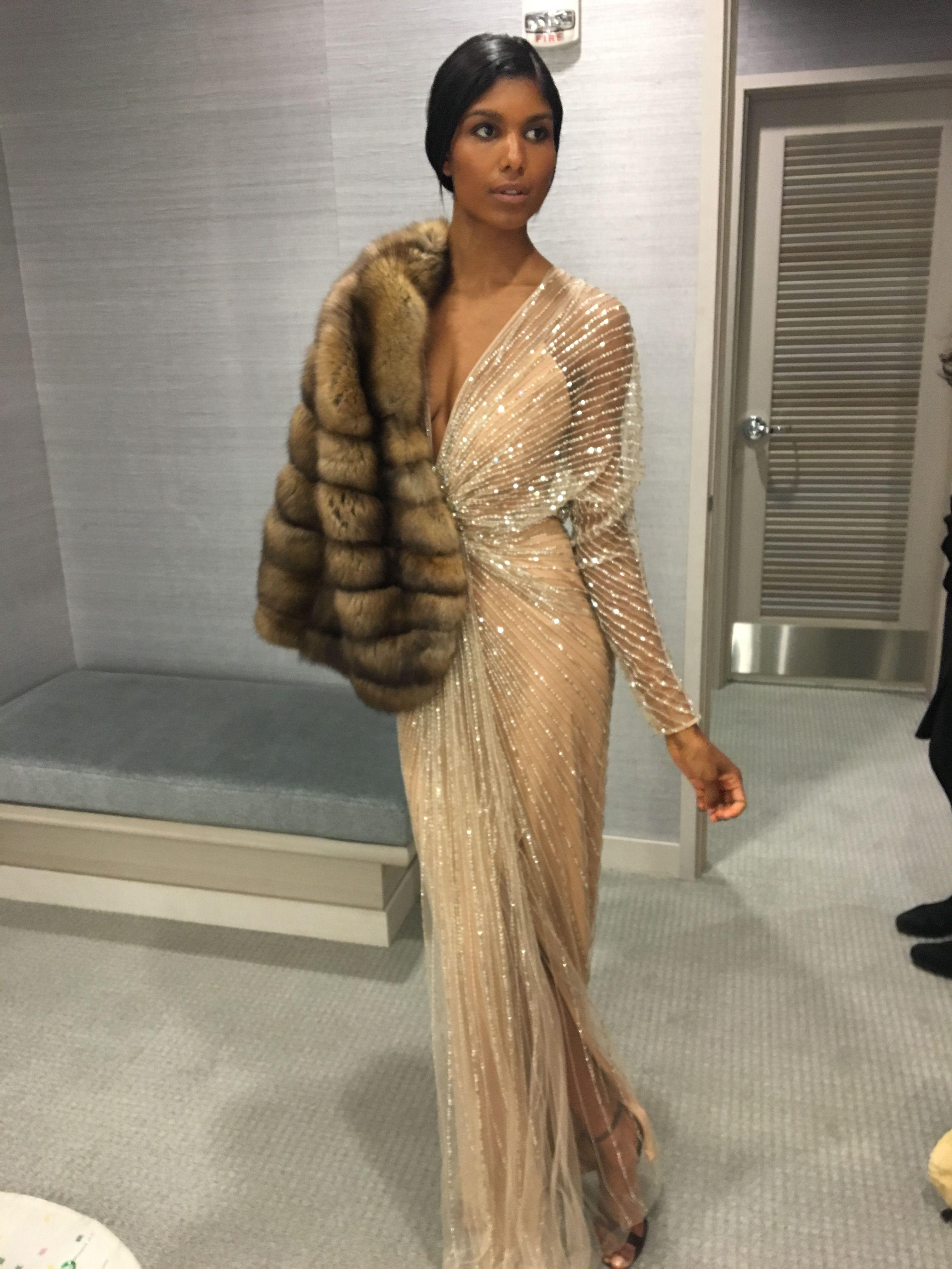 Gorski Golden Sable, glowing designer gown - seen at Neiman Marcus ...