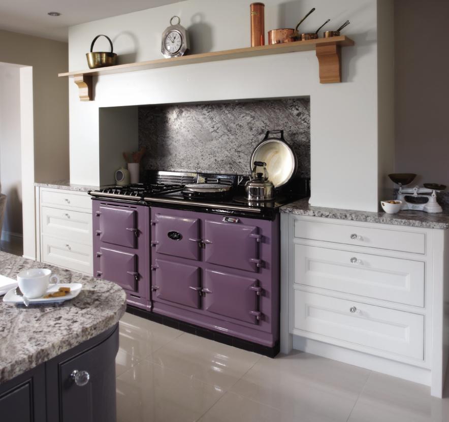 Fabulous purple AGA Country kitchen, Kitchen design