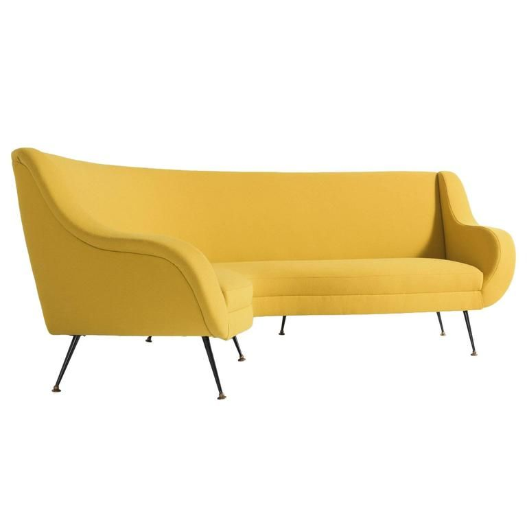 pin by jerry fleming on mcm design curved sofa yellow sofa furniture rh pinterest com yellow velvet sofa for sale pale yellow sofa for sale