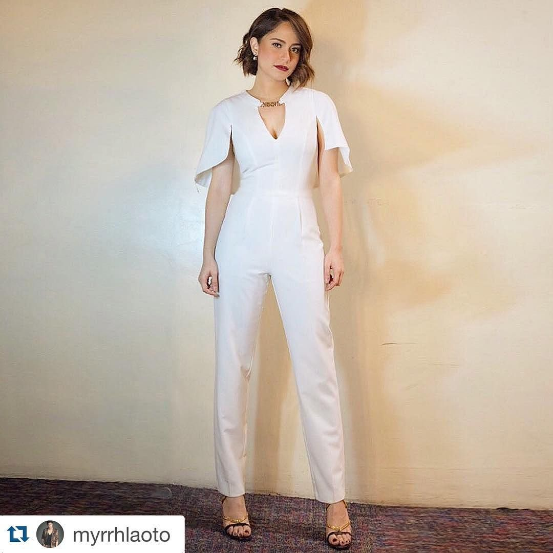 """#Repost @myrrhlaoto with @repostapp. ・・・ Gorgeous Jessy Mendiola does a pre-taped interview on @aatofficial airing soon.  Makeup by @chinitohosikusieho,…"""