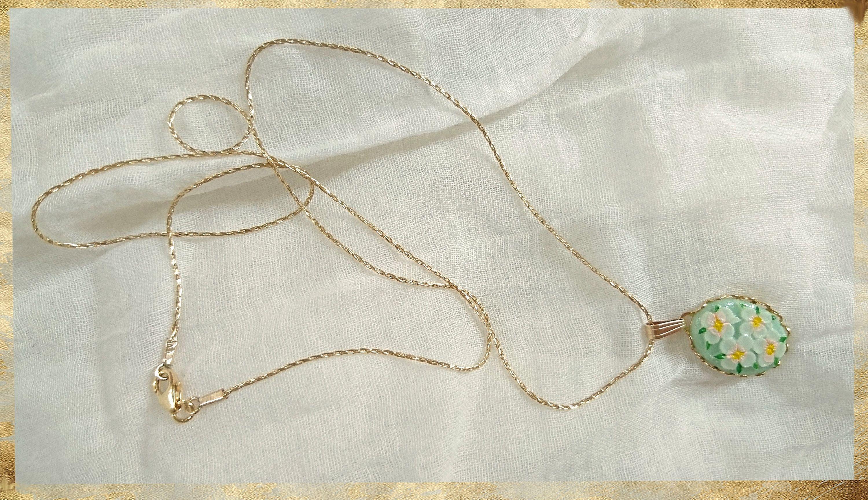 Vintage necklace flower necklace boho hippie style summer necklace woman necklace vintage jewelry