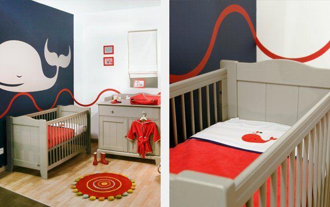rood, wit en blauw #kinderkamer #babykamer | red, white and blue, Deco ideeën