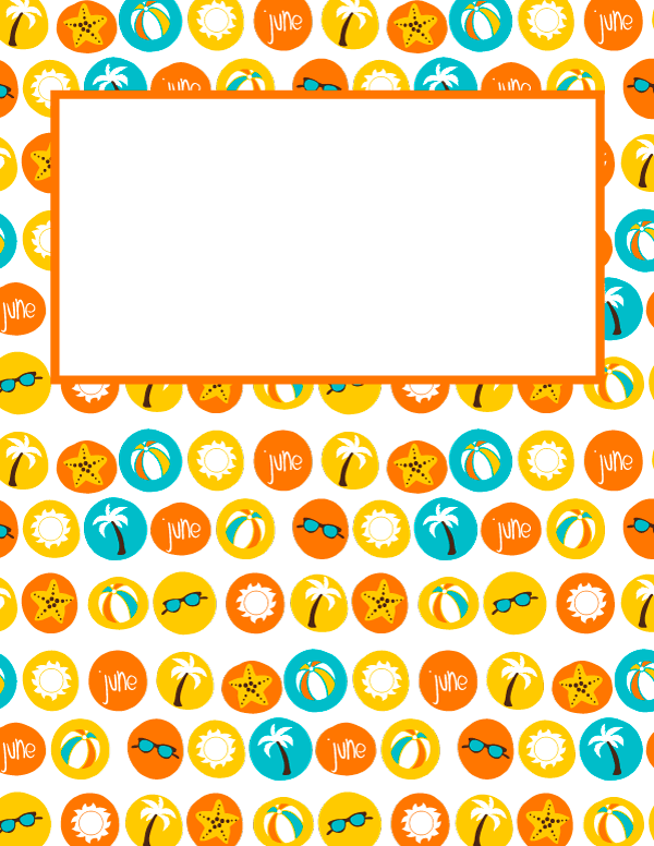 Free Printable June Binder Cover Template Download The In JPG Or PDF Format At