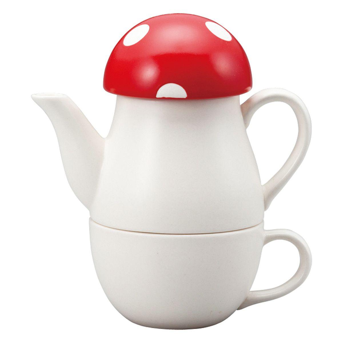 Mushroom Tea For One Set by Japanese Gift Market