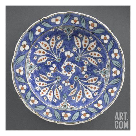 Plat creux fond bleu gelenek ve sanat 10 pinterest mus e art et renaissance for Prix tuile fond plat