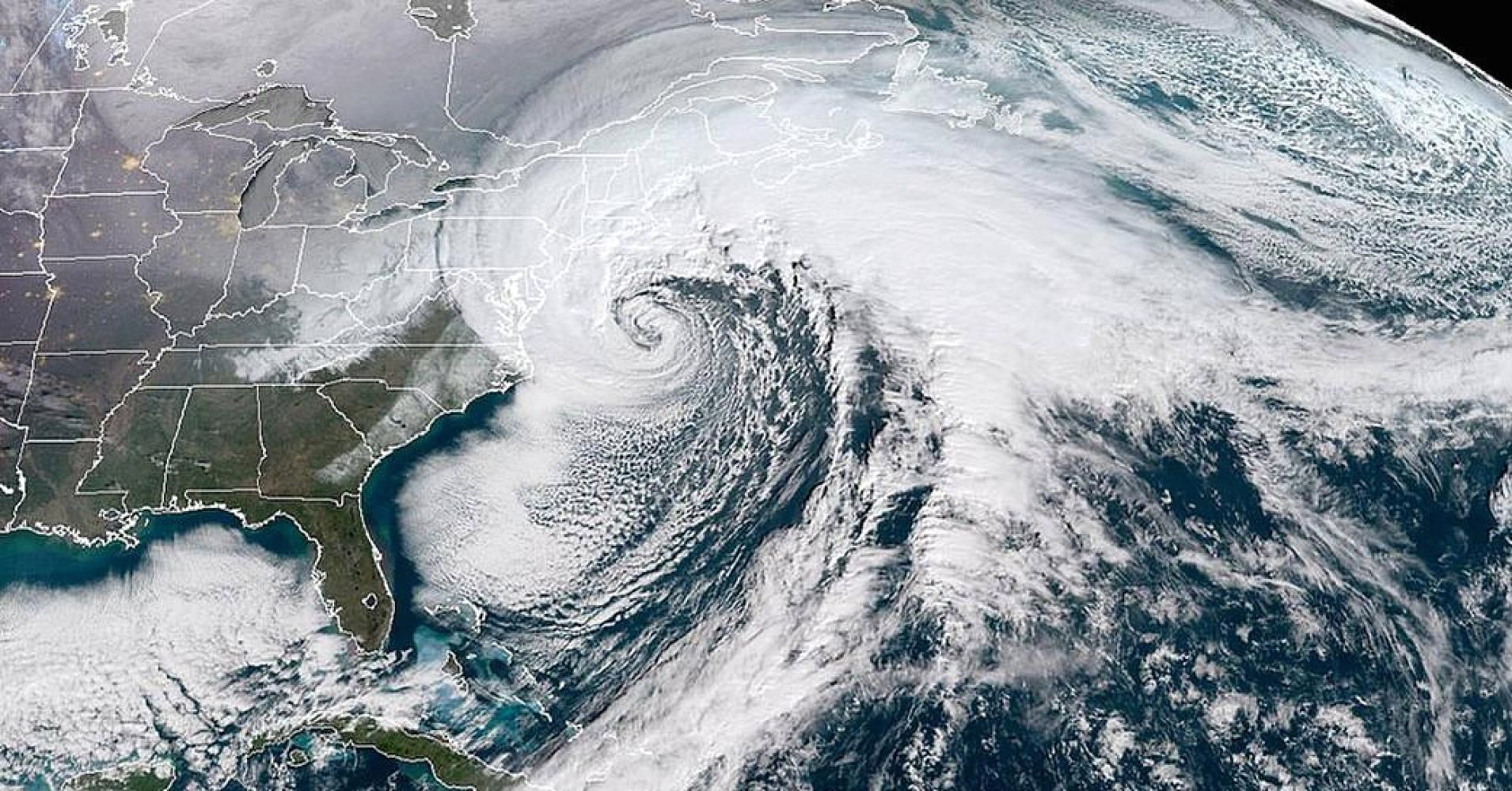 NASA took pictures of the bomb cyclone from space and they