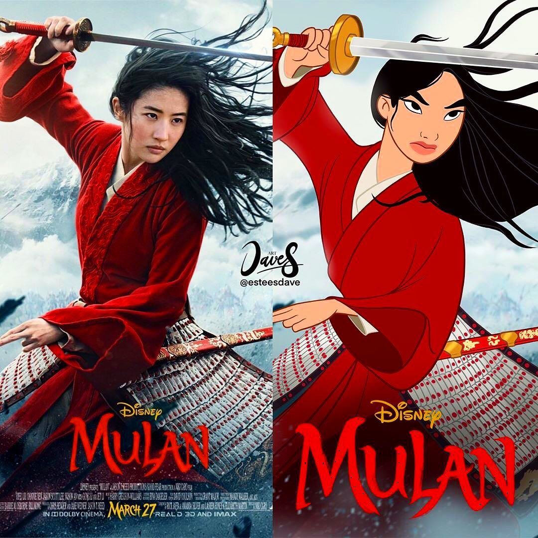 "Remake Vs 2020 Halloween Disney Remake on Instagram: ""🗡 Mulan 1998 vs Mulan 2020! Art by"