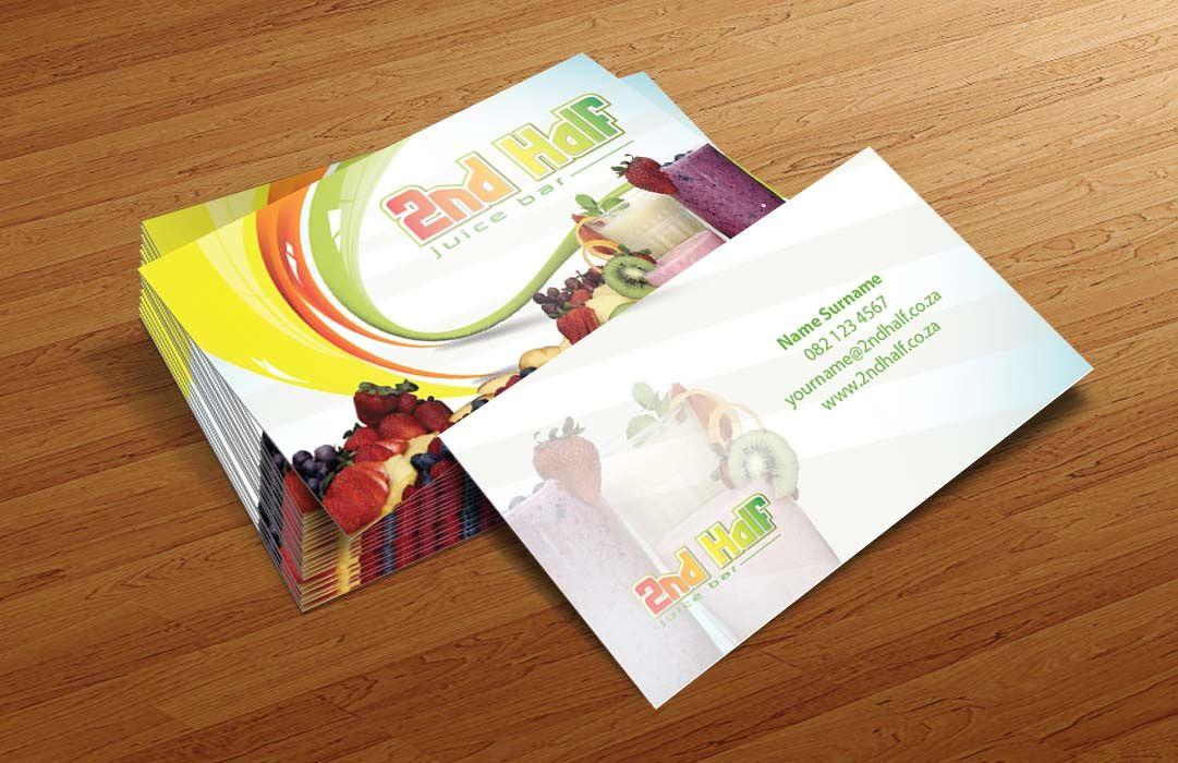Business Card Design For Juice Bar Juice Bar Business Card Design Juice