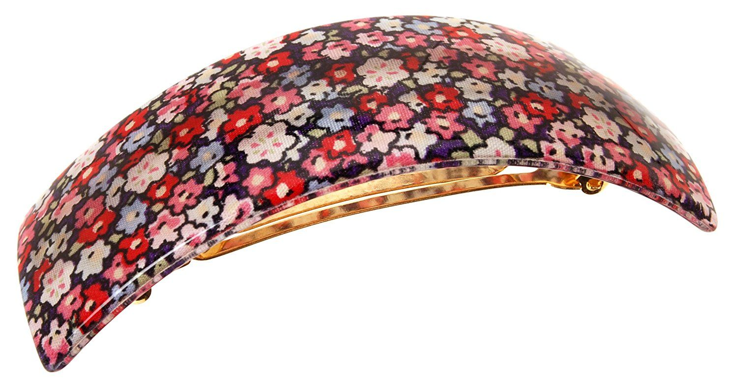 France Luxe Rectangle Volume Barrette - Petite Fleur Red -- This is an Amazon Affiliate link. Check out this great product.