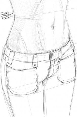 Wie den Bauch mit dem Bleistift in den Etappen 3 zu zeichnen #clothesdrawing