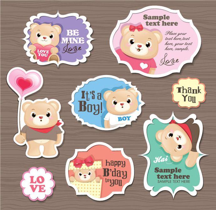 Cartoon sticker vector design webbyarts download free vectors graphics icons free vector