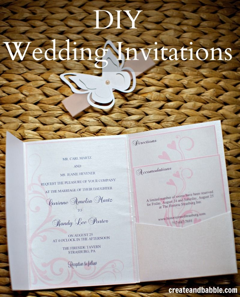 DIY Wedding Invitations Silhouette Tutorial Wedding invitations