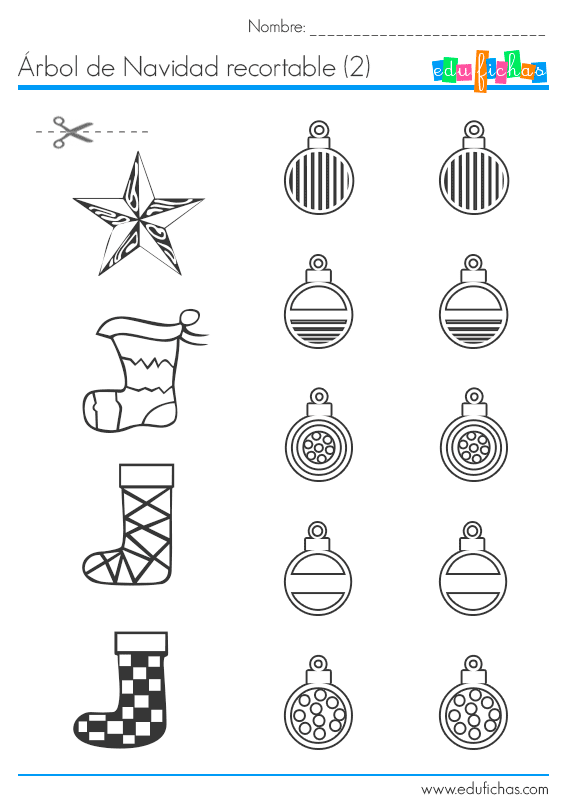 Collage de Navidad. Hoja 2 http://www.edufichas.com/actividades ...