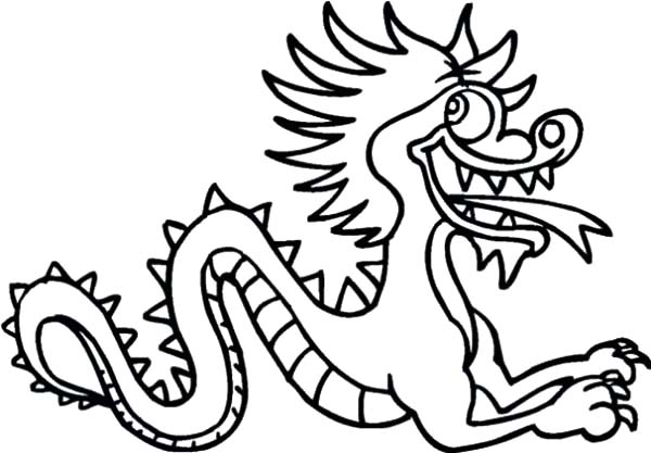 Chinese Dragon Silly Face Coloring Pages Netart Dragon Coloring Page Chinese Dragon Simple Dragon Drawing