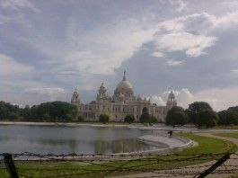 Picture of victoria memorial in kolkata
