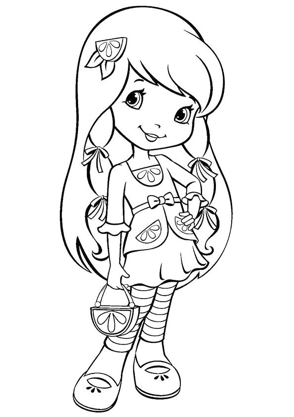20 Beautiful Strawberry Shortcake Coloring Pages For Your